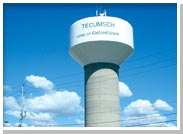 Photo of the Tecumseh Water Tower
