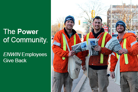 The Power Of Community.  ENWIN employees give back.