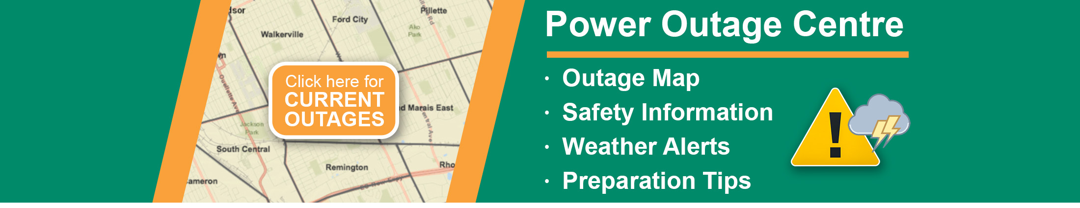 Power Outage Centre Banner