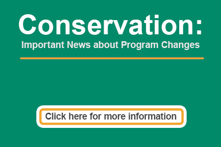 Conservation: Important News about Program Changes